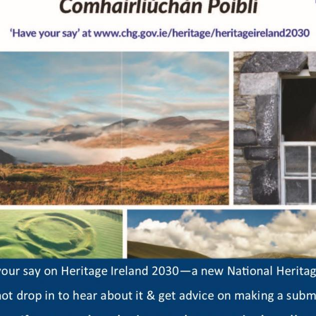 Suck Valley Way News Have your say on Heritage Ireland 2030 -  new National Heritage Plan