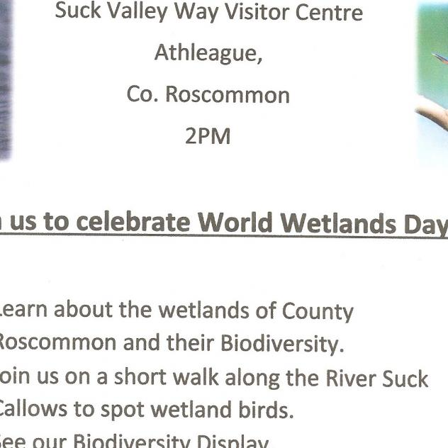 Suck Valley Way News World Wetlands Day  Sunday 2nd February